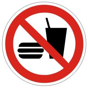 Verbotszeichen-1-P022-Essen und Trinken verboten-DIN EN ISO 7010