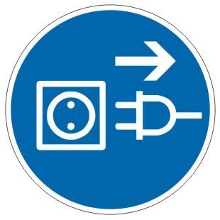 Gebotszeichen-3-M006-Netzstecker ziehen-DIN EN ISO 7010