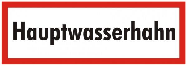 Brandschutzzeichen-9-Hauptwasserhahn-Textschild DIN 4066 Brandschutzschild
