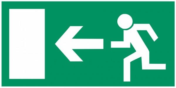 Fluchtwegeschild-6-E013 Rettungsweg links-BGV A8 Fluchtwegschilder