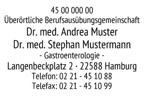 30x45 mm · Kassenarztstempel · Praxisstempel · Arztstempel · Rezeptstempel-3