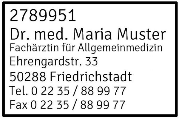 30x45 mm · Kassenarztstempel · Praxisstempel · Arztstempel · Rezeptstempel-2