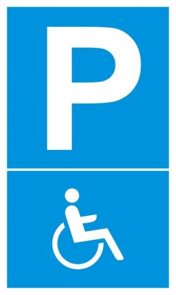 Parkplatzschild Rollstuhl / Behindertenparkplatz