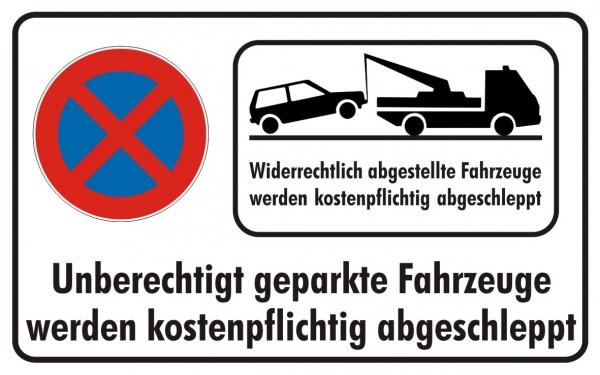 Parkverbot Absolut mit Abschleppsymbol
