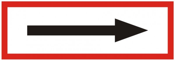 Brandschutzzeichen-9-Richtungspfeil -Textschild DIN 4066 Brandschutzschilder