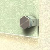 ø 25 mm 6-Kant Abstandshalter V2A mit Inbus · Glashalter · Edelstahl Schilderhalter