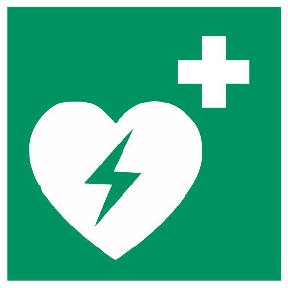 Fluchtwegeschild-6-E010-Automatisierter externer Defibrillator (AED)-DIN EN ISO 7010 Fluchtwegschild