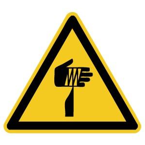 Warnzeichen-4-W022-Warnung vor spitzem Gegenstand-DIN EN ISO 7010