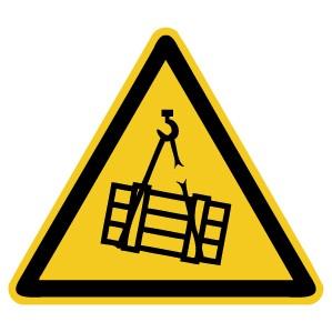 Warnzeichen-4-W015-Warnung vor schwebender Last-DIN EN ISO 7010