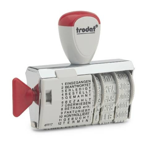 1117 - 4mm Datum- Wortbandstempel Handstempel