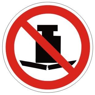 Verbotszeichen-1-P012-Keine schwere Last-DIN EN ISO 7010