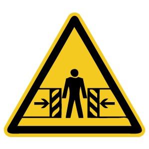 Warnzeichen-4-W019-Warnung vor Quetschgefahr-DIN EN ISO 7010