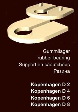 27 x 41 mm Gummilager für Klemmhalter · Edelstahl Schilderhalter