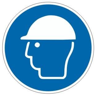 Gebotszeichen-3-M014-Kopfschutz benutzen-DIN EN ISO 7010