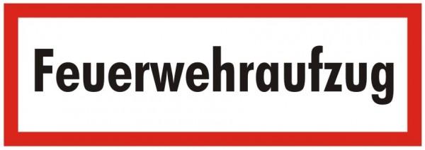 Brandschutzzeichen-9-Feuerwehraufzug-Textschild DIN 4066 Brandschutzschilder