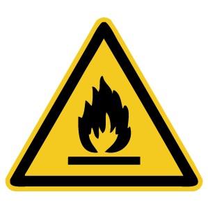Warnzeichen-4-W021-Warnung vor feuergefährlichen Stoffen-DIN EN ISO 7010