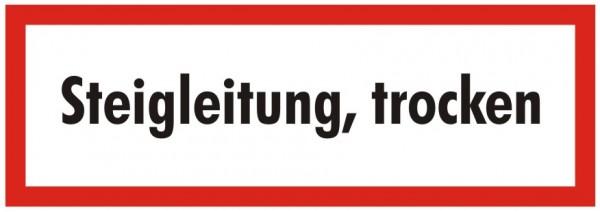 Brandschutzzeichen-9-Steigleitung trocken-Textschild DIN 4066 Brandschutzschilder