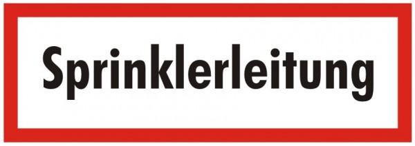 Brandschutzzeichen-9-Sprinklerleitung -Textschild DIN 4066 Brandschutzzeichen