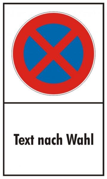 Parkverbot Absolut Hochformat mit Freifeld für Wunschtext