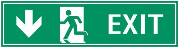 Fluchtwegeschild-7-EXIT links abwärts 39 x 11,5 cm Fluchtwegschild