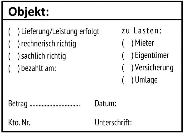 Buchungsstempel · Verwaltungsstempel · Abrechnungsstempel