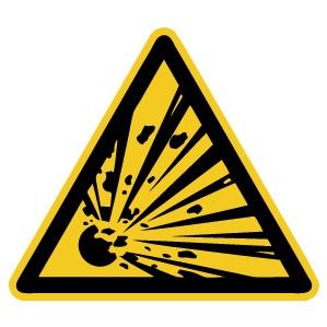 Warnzeichen-4-W002-Warnung vor explosionsgefährlichen Stoffen-DIN EN ISO 7010