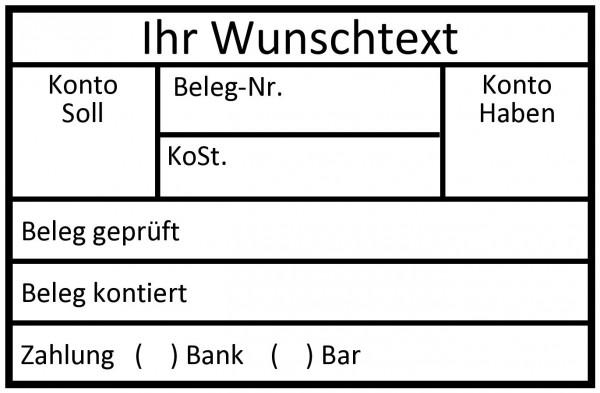 Finanzstempel · Kontierungsstempel · Rechnungsstempel