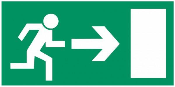 Fluchtwegeschild-6-E013 Rettungsweg rechts-BGV A8 Fluchtwegschilder