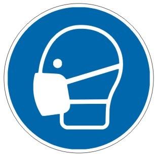 Gebotszeichen-3-M016-Mundschutz Maske benutzen-DIN EN ISO 7010