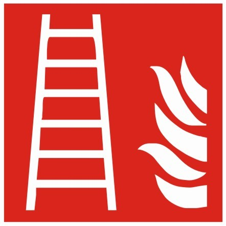 Brandschutzzeichen-8-F003-Leiter- nach DIN EN ISO 7010 Brandschutzzeichen