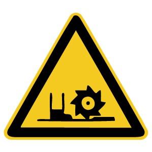 Warnzeichen-5-W022-Warnung vor Fräswelle-DIN 4844