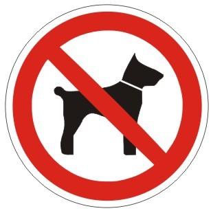 Verbotszeichen-1-P021-Mitführen von Hunden verboten-DIN EN ISO 7010
