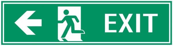 Fluchtwegeschild-7-EXIT links 39 x 11,5 cm Fluchtwegschild