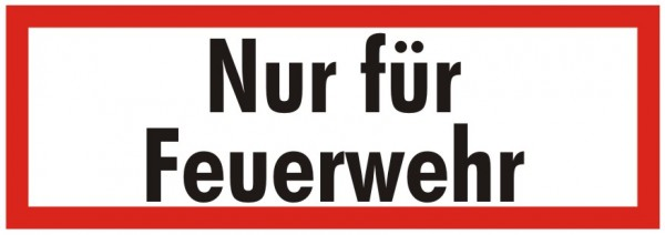 Brandschutzzeichen-9-Nur für Feuerwehr-Textschild DIN 4066 Brandschutzschild