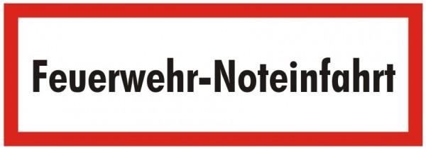Brandschutzzeichen-9-Feuerwehr Noteinfahrt-Textschild DIN 4066 Brandschutzschild