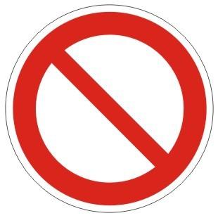 Verbotszeichen-1-P001-Allgemeines Verbotszeichen-DIN EN ISO 7010