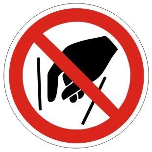 Verbotszeichen-1-P015-Hineinfassen verboten-DIN EN ISO 7010