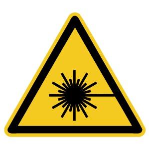 Warnzeichen-4-W004-Warnung vor Lasertrahl-DIN EN ISO 7010