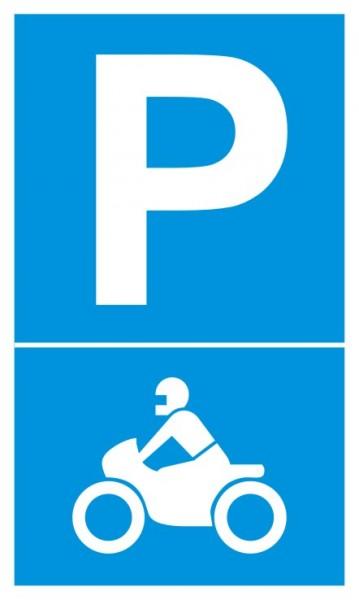 Parkplatzschild Motorradparkplatz