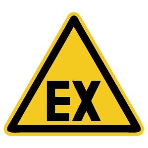 Warnzeichen-5-W021-Warnung vor explosionsfähiger Atmosphäre-DIN 4844