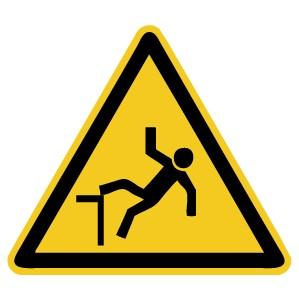 Warnzeichen-4-W008-Warnung vor Absturzgefahr-DIN EN ISO 7010