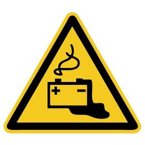 Warnzeichen-4-W026-Warnung vor Gefahren durch das Aufladen von Batteriend-DIN EN ISO 7010