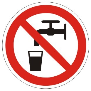 Verbotszeichen-1-P005-Kein Trinkwasser-DIN EN ISO 7010