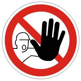 Verbotszeichen-2-P006-Zutritt für Unbefugte verboten-DIN 4844