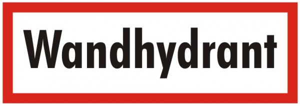 Brandschutzzeichen-9-Wandhydrant-Textschild DIN 4066 Brandschutzschild