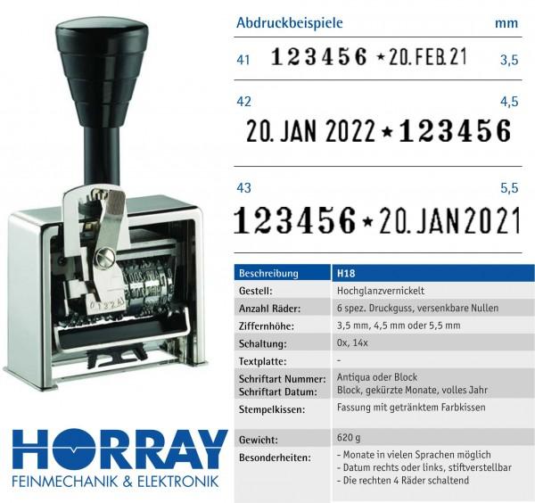 H18 Paginierstempel mit Datum · Eingangsrechnung Stempeln · Horray