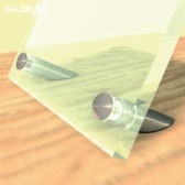 ø 11 mm Aufsteller V2A · Edelstahl Schilderhalter