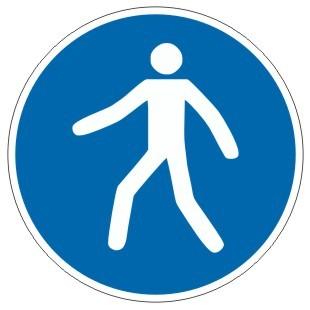 Gebotszeichen-3-M024-Fußgängerweg benutzen-DIN EN ISO 7010
