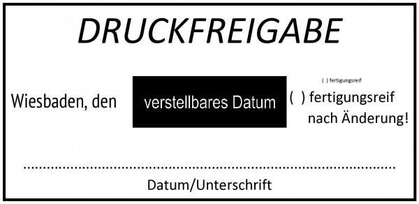 37x76 mm · Druckfreigabe · Prüfstempel · Datumtempel