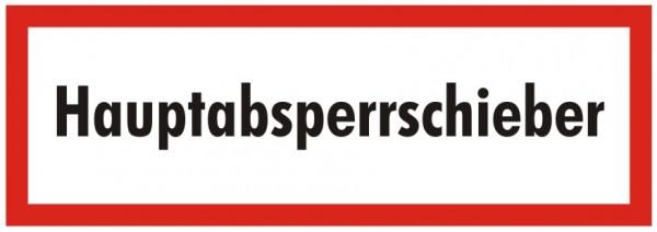 Brandschutzzeichen-9-Hauptabsperrschieber-Textschild DIN 4066 Brandschutzschild